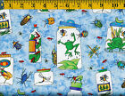 Bug A Boo Kids Cotton fabric by Northcott 14 Beatles Frogs Stick Bugs Ants 12
