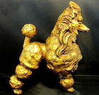 Poodle Kay Finch Dog Figurine California Pottery Mid Century Vintage Gold Leaf