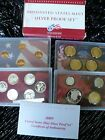 2009 UNITED STATES MINT SILVER PROOF SET 18 COINS TOTAL W/COA & MINT BOX