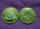 AA 10th Year (X)  AA Anniversary Alcoholics Anonymous ~ Gold Plated Medallion