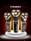 MEN'S SHAVER RAZOR lurxury gold 2014 3D RECHARGEABLE WASHABLE ELECTRIC TRIMMER