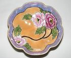Antique 1930s ART DECO NORITAKE JAPAN HAND PAINTED FOOTED PINK PEONY FLOWER BOWL