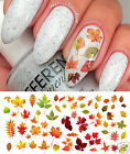 Autumn Fall Leaves Nail Art Waterslide Decals Set 2 Salon Quality