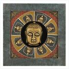 Faux Stone TIMELESS BUDDHA Shadow Box Wall Hanging Plaque Oriental Chinese Decor