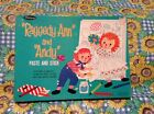 1968 Raggedy Ann & Andy Paste And Stick Activity Set Whitman