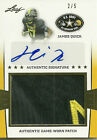 JAMES QUICK 2013 LEAF US ARMY RC JUMBO PATCH AUTO SP 2 5 LOUISVILLE