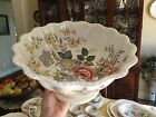 RARE Vintage Copeland Spode Romney Large footed Centerpiece FRUIT Punch bowl Old