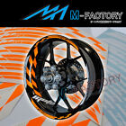 For KTM RC8 R 690 Duke Motor #GP1 Orange Fluorescent Wheel Stripes Rim Sticker