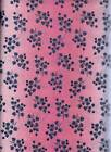 Very Pretty Northcott Blue Leaves On Pink Cotton Quilting Sewing Fabric 1YD