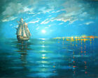 Sunset on the Caribbean Sea  Painting On Canvas By Dmitry Spiros.