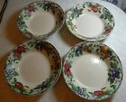 4 ONEIDA SAKURA SONOMA FRUIT DESIGN SOUP CEREAL BOWLS 7 3/8
