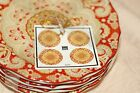 NEW 222 Fifth LYRIA SAFFRON Appetizer Plates Set of 4 Dessert Bread