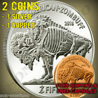 2 ZOMBUFF COINS & FREE AIRTITES Silver Copper 1oz Zombie Buffalo Nickel ZOMBUCKS