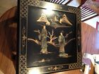 Oriental Furniture Black Lacquer Japanese Side Table