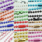 Wholesale Lots 10/50pcs Ball Metal 2.4/1.5/2.0mm Beads Chains Necklace Finding