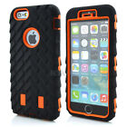 Orange Hybrid Tyre Soft Rubber Hard High Impact Combo Case For iPhone 6 4.7