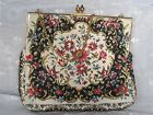 1930's - 1940's VINTAGE TAPESTRY CLUTCH PURSE HAND-MADE in FRANCE