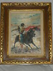 vintage Spain or Mexico bullfight BULLFIGHTER painting