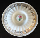Vintage Sebring Bouquet China Serving Vegetable Bowl with Lid 24K Gold Trim