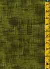 Linen Texture Tonal by P&B Textiles Cotton Quilt Fabric  1 yd Yellow Green Olive