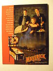 MAVERICK THE MOVIE PINBALL FLYER BY DATA EAST