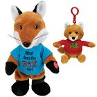 NEW (Set) Animated What Does The Fox Say Plush and Companion Singing Keychain