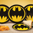 NEW (Set/4) DC Comics Batman Melamine Plates - Superhero Logo Dinnerware Pack