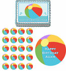Beach Ball Pool Water Edible Cake Topper Cupcake Image Decoration Birthday