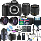 Nikon D5300 Digital SLR Camera with 18 55VR+70 300 Lenses + 24GB KIT+ Backpack