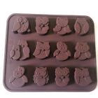1x Silicone Cake Cookie Muffin Chocolate Candy Mould Baking Tray Cute Owl Mold