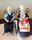 Grandma & Grandpa Dolls by SHACKMAN (Japan) 1971 (W/ Porcelain Heads & Rockers)