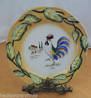 Floyd Leaves Embossed Yellow Scalloped Salad Plate