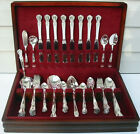 69 Pc.Set SIGNATURE 1950 Silverplate Flatware with Chest MONOGRAM B Old Company