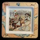 Tourist Cats Collector Plate Tray Made in Italy CUTE!