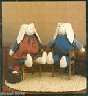 Rag Bunnies & Clothing Sewing Pattern Uncut Easy To Make Soft Sculpture Easter
