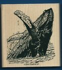 HUMPBACK WHALE JUMPING OCEAN WILDLIFE SEA LIFE new STAMPIN UP! Wood RUBBER STAMP