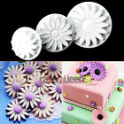 3Pcs Sunflower Plunger Cutter Mold Sugarcraft Fondant Cake Decorating Biscuit