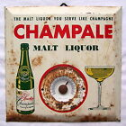 Vintage Champale Malt Liquor Thermometer metal tin bar beer sign sparkling Rusty