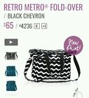Thirty One Retro Metro Fold Over Black Chevron New in Package