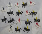 Giant Plastics Mongols vs knights cavalry battle toy soldiers       C