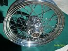 All chrome front wheel for Harley Softail,Dyna with twisted spokes