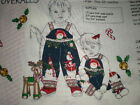 Vintage Daisy Kingdom Fabric DIY Snowman Toddler Coveralls