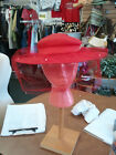 liz claiborne red hat with netting and pearls only $25.00