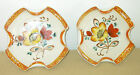 Two Vintage Noritake Art Pottery Hand-Painted Small Bowls with Flowers