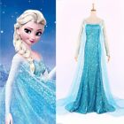 Movie FROZEN Queen Princess ELSA Dress Adult Lady Costume Cosplay US SELLER!!