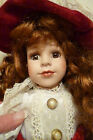 BEAUTIFUL DOLL REDHEAD PORCELAIN FACE HANDS LEGS YOUNG GIRL 16