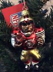 SanFrancisco 49ers Blown Glass Football Player Ornament - CASE LOT OF (6)