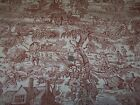 1.5 Yards Pheasant TOILE Decorator Fabric ~ 60