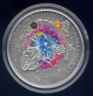 Cook Islands 2010 HAH 280 Meteorite Insert Colored Silver $5 Proof Coin COA