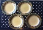 Set of 4 Plates by Baum Bros. Style-Eyes Dry Bamboo Collection Rare 11.5